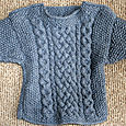 Cabled Baby Sweater